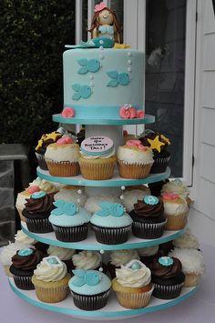 Mermaid Cupcake Tower by jdesmeules (Blue Cupcake), via Flickr