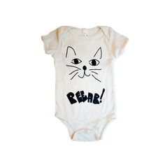 by Hugo Loves Tiki  A fun and bold print by the loved designer now available in a short sleeve  organic cream onesie!  DETAILS: 100% fine ring-spun combed organic cotton fine 1x1 rib knit