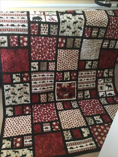 A hug from Canada quilt backed in warm flannel. This quilt was made to comfort a friend in Europe with cancer. Flannel Quilts, Lap Quilts, Scrappy Quilts, Shirt Quilts, Quilting Projects, Quilting Designs, Canadian Quilts, Quilts Canada, Wildlife Quilts