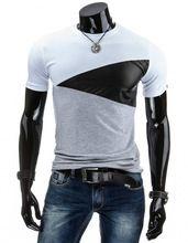 6d8f40d9f8 2016 diseños para hombre T Shirt Slim Fit cuello de equipo hombres camiseta  de manga corta