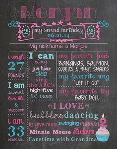 Chalkboard Birthday Poster