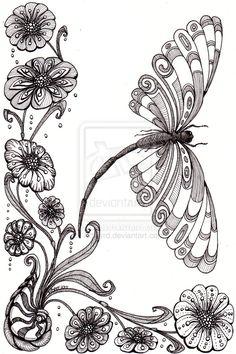 Dragonfly Away 25Aug12 by *Artwyrd on deviantART