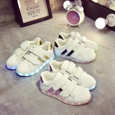 Colorful Luminous Sneakers Led Slippers with USB tenis simulation Luminous Sole Krasovki Illuminated boy girls Glowing Sneakers adida