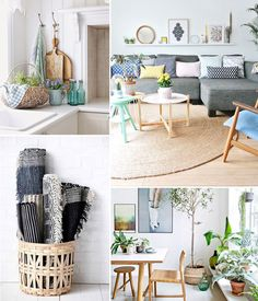 Photos inspirantes pour décorer son appartement au retour du printemps. Tropical Interior, Slow, Home Decor Inspiration, Interior Design, Lifestyle, Spring, Photos, Home Decoration, Design Interiors