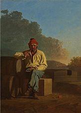 """by George Caleb Bingham   """"Mississipi Boatman"""""""