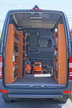 f5b516be9dc 2017 Mercedes Sprinter with custom shelving.  van shelving  van organizing   custom shelves  sprinter van  work van organisation  ridgid tools