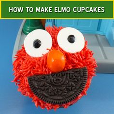 We walk you through step-by-step directions on how to make Elmo cupcakes for a Sesame Street Birthday Party.