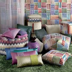 The Phrae Pouf is designed to make a visual impact in any space. http://www.yliving.com/missoni-home-phrae-pouf.html