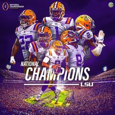 The LSU Tigers defeated the Clemson Tigers in the CFP National Championship. I am so beyond excited for my school. This season has been unmatched. The Coach of the Year in Coach O,… Lsu Tigers Football, Sec Football, College Football, Saints Football, Longhorns Football, Football Uniforms, Death Valley Lsu, Football Wallpaper Iphone, Cfp National Championship