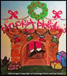 HAPPY HOLIDAYS at Saratoga Paint & Sip Studio (Work it, Santa!!!)