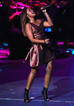 Jessica Mauboy Photos Photos - Jessica Mauboy performs during the Opening Ceremony ahead of the ICC 2015 Cricket World Cup at the Myer Music Bowl on February 2015 in Melbourne, Australia. - ICC 2015 Cricket World Cup Opening Ceremony 2015 Cricket World Cup, Jessica Mauboy, February 12, Indigenous Art, Music Therapy, Melbourne Australia, Celebs, Celebrities, Opening Ceremony