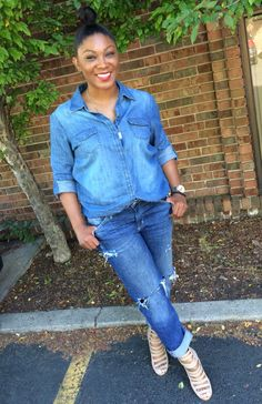 This is how you pull off denim on denim