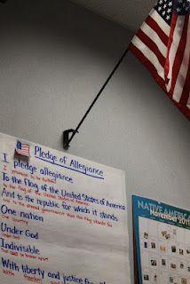 Kid-friendly Pledge of Allegiance anchor chart
