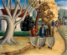 Coming down the Road, ca. 1934, Margaret N. Dodson, oil on canvas, 25 x 30 1/8 in. (63.5 x 76.5 cm), Smithsonian American Art Museum