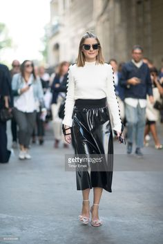 Olivia Palermo seen before the MSGM fashion show Milan Fashion Week Spring/Summer 2018 on September 24, 2017 in Milan, Italy.