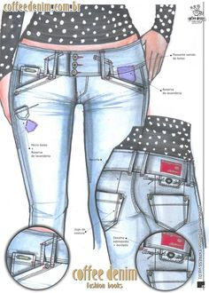 Fashion Casual, Fashion Flats, Summer Jeans, Denim Trends, Denim Jeans Men, Aw17, Fashion Sketches, Fashion Design, Trousers Women