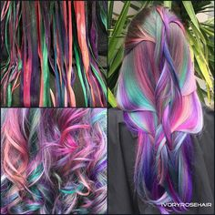 Galaxy rainbow streaks