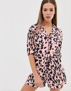 Missguided satin pyjama set in leopard c56ef15807c1c