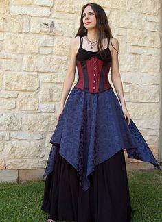 Sapphire Pixie Skirt Renaissance Costume door CrystalKittyCat, $47,00