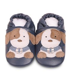 Take a look at this Navy Puppy Bootie by Shooshoos on #zulily today!