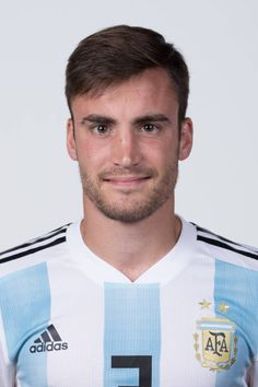 Nicolas Tagliafico of Argentina poses for a portrait during the official FIFA World Cup 2018 portrait session on June 12 2018 in Moscow Russia Argentina Football Team, Fifa World Cup 2018, Russia World Cup, International Football, Poses, Soccer Players, Adidas, Moscow Russia, Rey