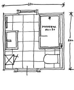 http://www.baderie.nl/badkamer-ontwerpen/slimme-ontwerpvoorbeelden/vierkant-klein.dot  Een grote inloopdouche van 140x80 cm met een glazen wand geeft een ruimtelijk effect aan deze badkamer. Door te kiezen voor een smal inbouwreservoir voor het toilet past de toilet precies naast de deur. Een grote wastafel, kast en voorzetwand in de douche met een plateautje geven bij elkaar functionele ruimte om spullen een plaats te geven.  Ideale indeling voor de kleine badkamer