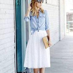 Ella Moss White Eyelet Skirt