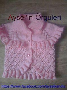 Nebel-Netting, dass allzu sirin-Baby-on-the-Strickmuster Baby Sweater Patterns, Knit Baby Sweaters, Baby Dress Patterns, Baby Knitting Patterns, Knitting Designs, Knitting Sweaters, Baby Cardigan, Baby Vest, Crochet For Kids
