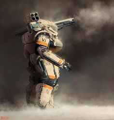 """sciencefictionworld:  """"Tank Armoured Suit"""" by... - Mecha and More"""