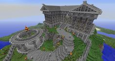 What I built right before the new Quartz blocks came out… dammit. Minecraft Tips, Minecraft Stuff, Minecraft Mansion, City Photo, Quartz, Mansions, World, Building, Awesome