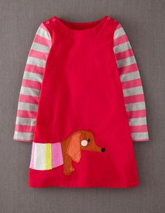 I've spotted this @BodenClothing Fun Appliqué Dress Bus Red Dog