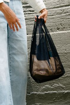 Net Bag, Cool Style, My Style, Blue Purse, Fashion Project, Reusable Bags, Knitted Bags, Organza Bags, Custom Clothes