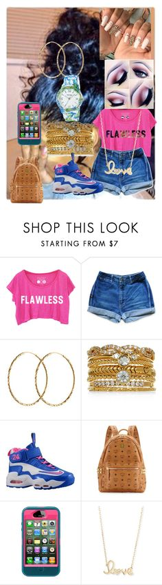 """im a boss"" by anthoneshastar242 ❤ liked on Polyvore featuring beauty, Pernille Corydon, Accessorize, NIKE, MCM, OtterBox, Sydney Evan and Vernier"