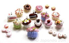 JOPANDA lampwork Beads handmade SRA - Coffe Cupcake Party with Donuts on eBay, sold for $276.89.