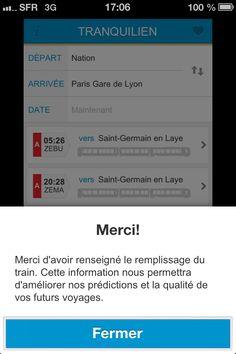 Tranquilien #iPhone #Transport #RER