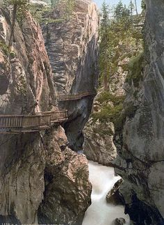 Zermatt, Upper Gorner Gorge, Valais, Alps of, Switzerland