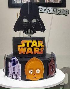 39+ Ideias de Bolo Star Wars > Sensacionais #BoloStarWars #Bolo #StarWars #FestaStarWars Bolo Star Wars, Starwars, Birthday Cake, Star Wars Party, Cake Ideas, Diy Home, Decorating Cakes, Birthday Cakes, Star Wars