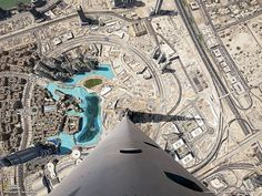 Looking Down from the Highest Point on the Tallest Building in the World – Burj Khalifa