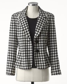 Houndstooth jacket  I used to just love Houndstooth back in the day!  Coldwater Creek