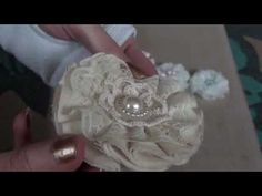 More shabby chic flowers made out of various fabric, lace, organza and ribbon. Just GORGEOUS!!! Amazingly easy to make.