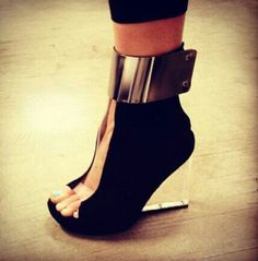 shoes clothes high heels wedges party shoes black shoes metallic shoes Source by shoes outfit Funky Shoes, Crazy Shoes, Me Too Shoes, Weird Shoes, Hot Shoes, Black Shoes, Shoes Heels, Pumps, Stilettos