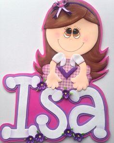 El Taller de Nana: Nombre con Aplique de Fofucha Plana en foami Princess Peach, Disney Princess, Pintura Country, Sarah Kay, Art For Kids, Minnie Mouse, Disney Characters, Creative, Topshop