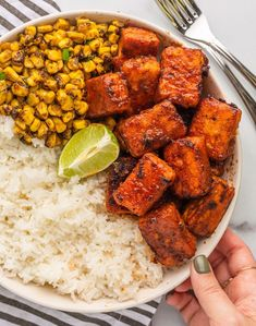 This smokey meaty tofu makes a great taco or burrito stuffing, or as the protein for your bowl! Vegan Dinner Recipes, Veggie Recipes, Cooking Recipes, Healthy Recipes, Cooking Tofu, Recipes With Tofu Vegan, Firm Tofu Recipes, Thm Recipes, Brunch Recipes