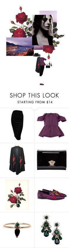 """""""Ах, этот вечер..."""" by anya-moscow ❤ liked on Polyvore featuring Rochas, Versace, WALL, Gucci, LUMO, Shourouk, Forever 21, Color, set and look"""