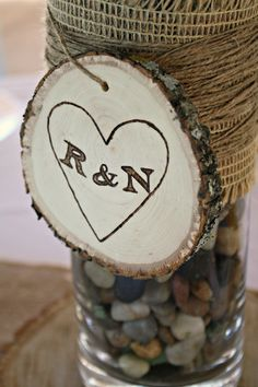 Wood burning is a great way to add unique details to your wedding.