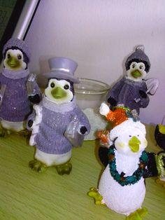 grijze kerst pinguins