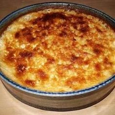 Good Old Fashioned Baked Rice Pudding With Milk, Rice, Caster Sugar, Butter, Ground Nutmeg
