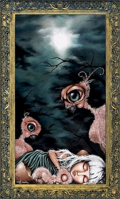 Angelina Wrona - Fledgling One of two prints that hangs in my child's nursery. Welcome to art my love. La Reverie, Anime Art Fantasy, Dark Fantasy, Dark Artwork, Apple Art, Lowbrow Art, Pop Surrealism, Canadian Artists, Lovers Art