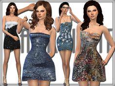 Mini Dresses by DarkNighTt at TSR via Sims 4 Updates