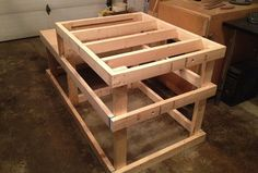 Table Saw Station - add shelving and casters.